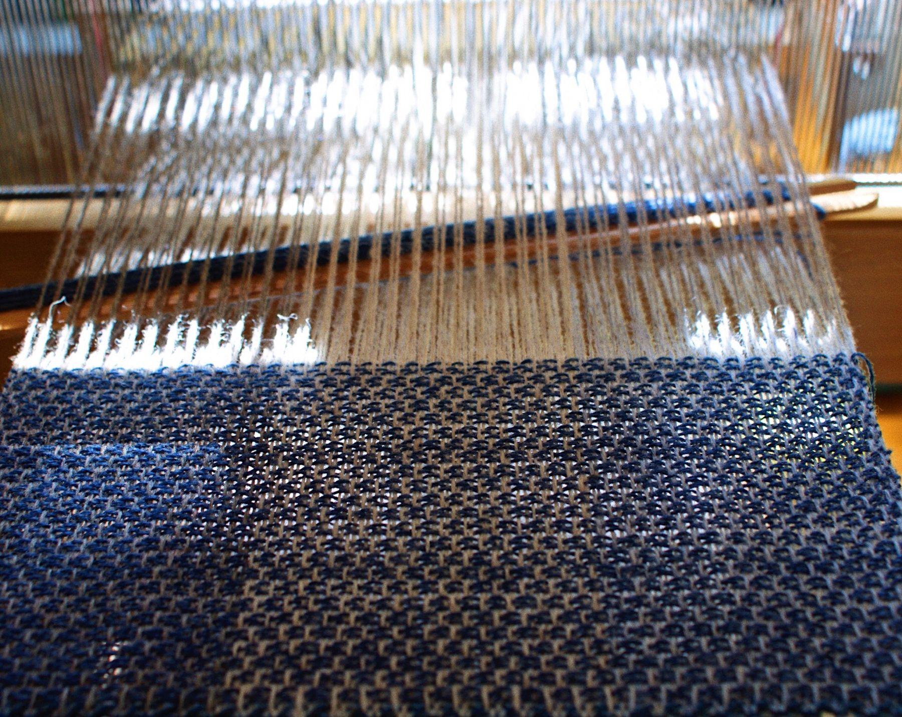 Blue weaving 🐋 #orkney #visitorkney #loomweaving #weaversofinstagram #loom #weaving #design #striped #stripes #wool #shetlandwool #handmade #workshop #learning #course