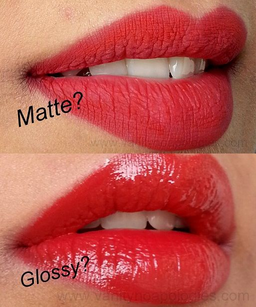 Classic Matte Red Lipstick Vs Glossy Red Pout Red Lipsticks