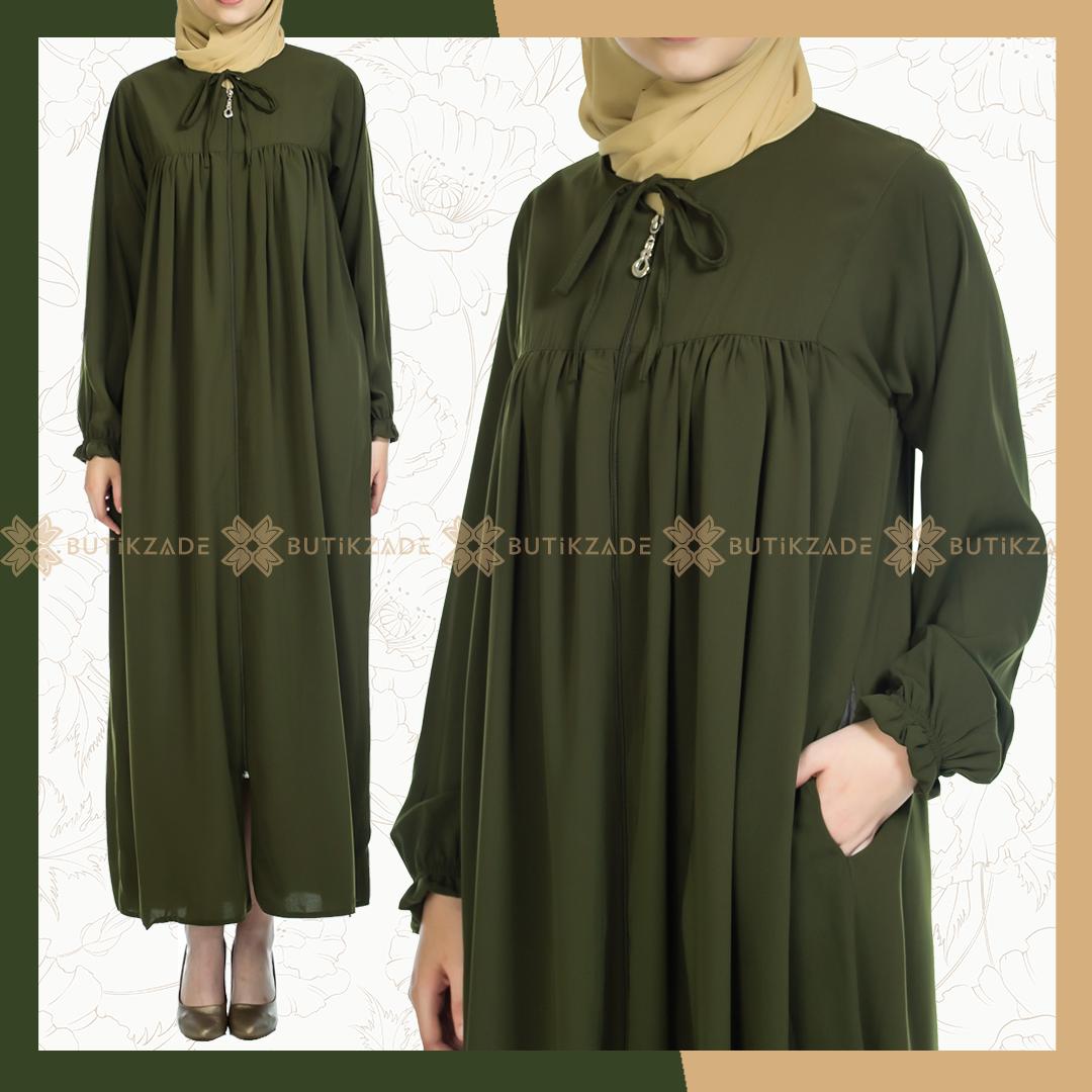 Robali Ferace Yesil Elbiseler Giyim Elbise