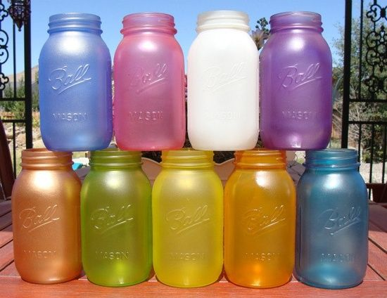 Mix Elmer\'s glue with food coloring and paint it on to any glass to ...