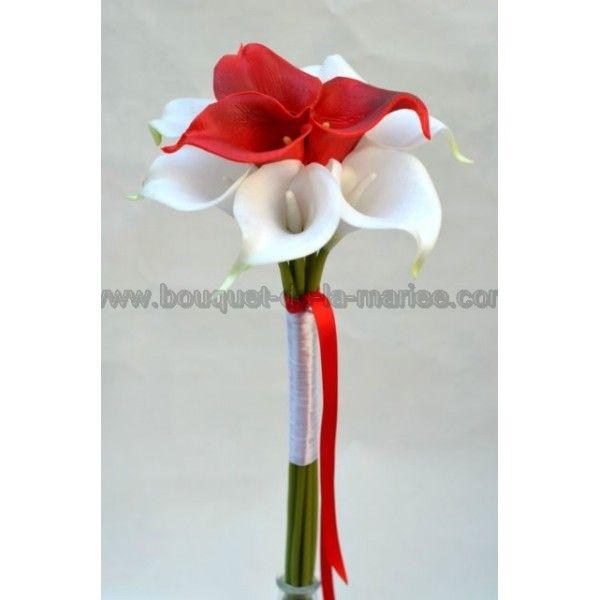 bouquet demoiselle d 39 honneur mariage rouge et blanc. Black Bedroom Furniture Sets. Home Design Ideas