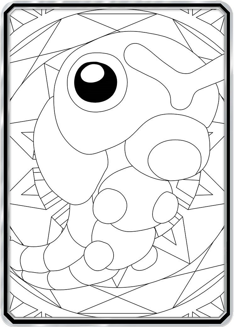 Color Me Caterpie Custom Pokemon Coloring Card Pokemon Coloring Pokemon Coloring Pages Color Card