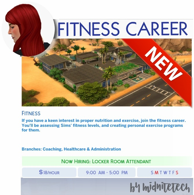 MIDNITETECH'S SIMBLR in 2020 Fitness career, Sims 4, Career