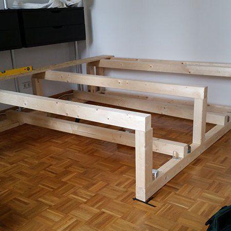wie wir uns ein podest bauen eine diy anleitung anleitungen podest kinderzimmer podest. Black Bedroom Furniture Sets. Home Design Ideas