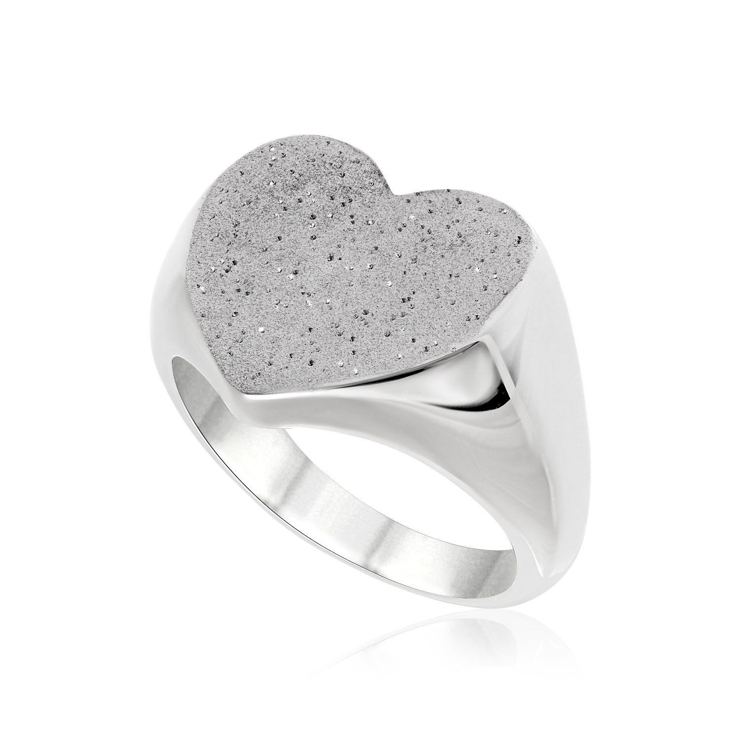 Sterling silver heart design stardust ring accesorios pinterest