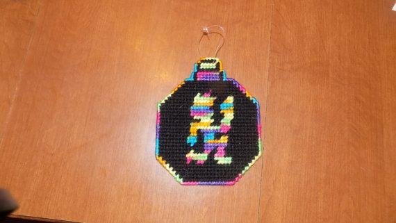 Rainbow and black Hatchetman christmas by TmSalesCreations on Etsy