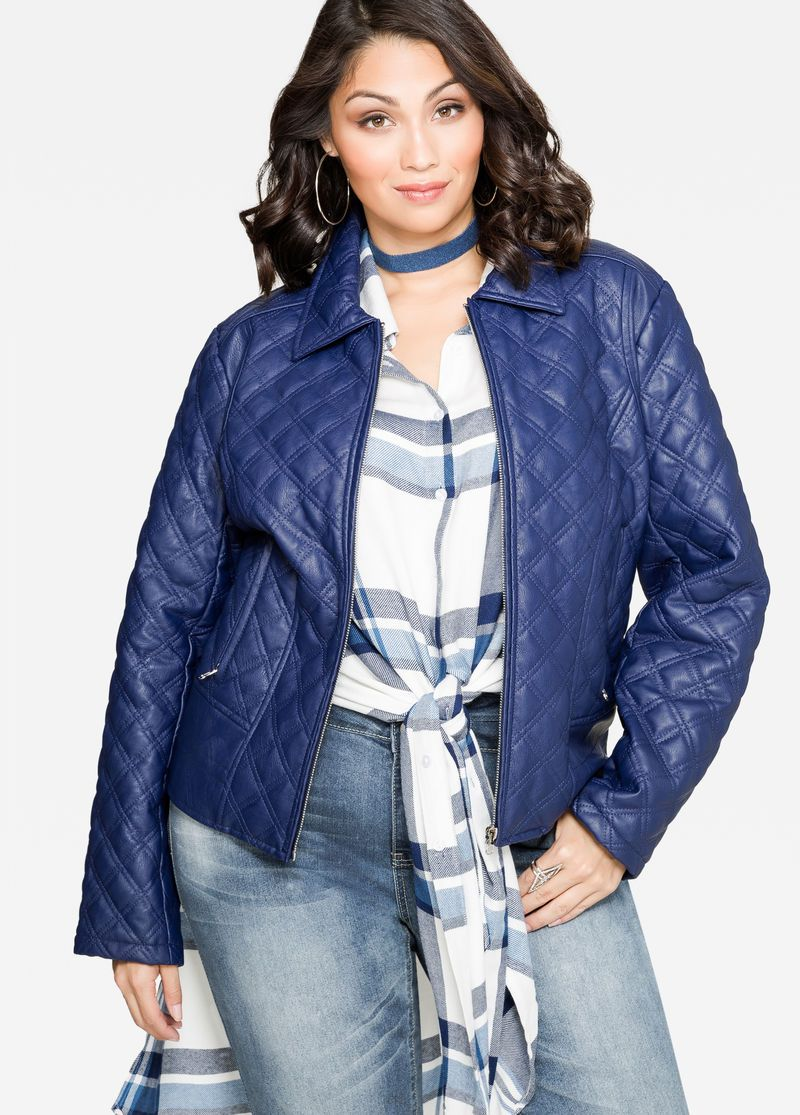Quilted Faux Leather Jacket Quilted Faux Leather Jacket