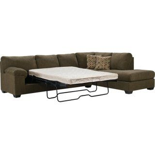 Morty Chenille Sofa Bed Sectional With Left Chaise Brown The