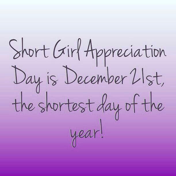 Happy short girl appreciation day! 😘 | Short girl