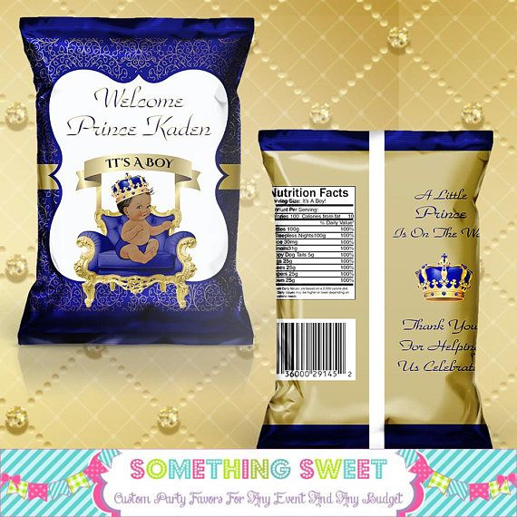 Royal Prince Chip Bag, Blue & Gold Prince Chips, Royal ...