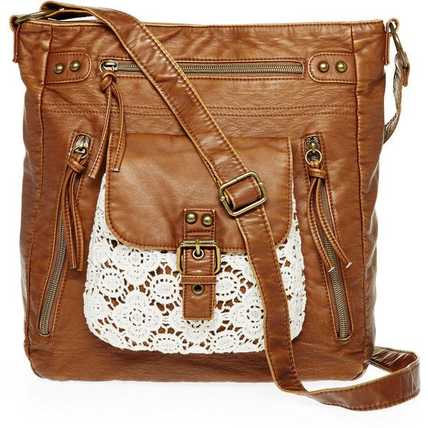 e6aac8865714 Handbags   Wallets - T-Shirt Jeans ™Crochet Cereal Box Crossbody Bag (40  CAD) ❤ liked on Polyvore featuring bags
