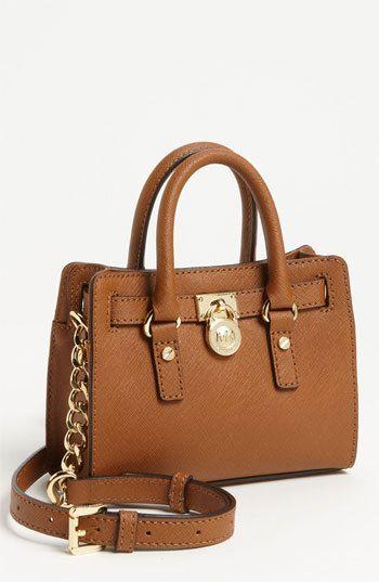 e1350911e126 MICHAEL Michael Kors 'Hamilton - Mini' Leather Messenger Bag on shopstyle.com  Michael