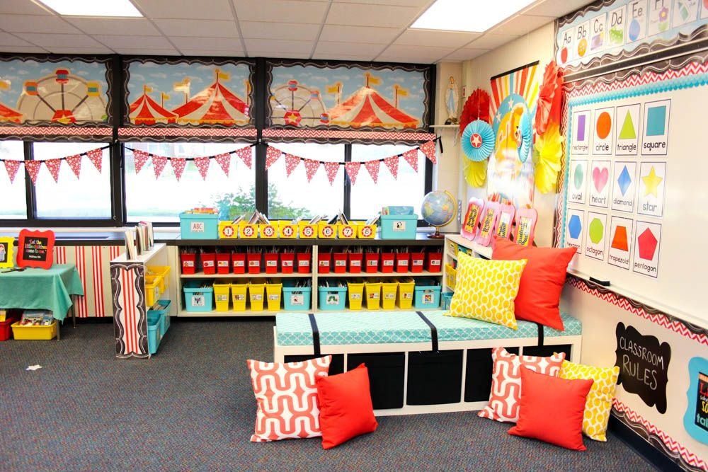 Classroom Decoration For Primary Classes ~ Take a tour of my vintage circus kindergarten classroom