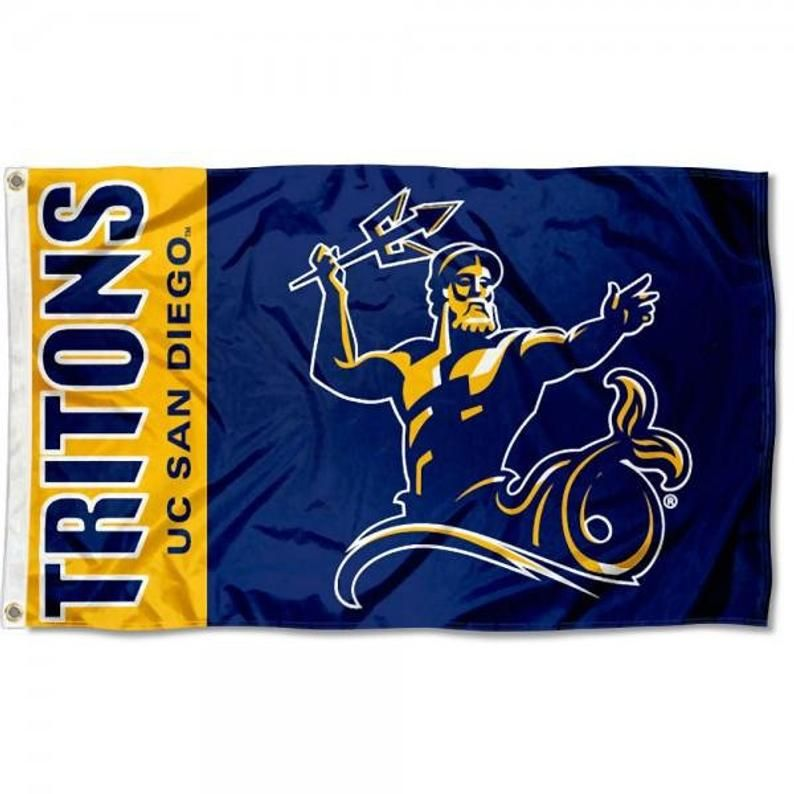 Ucsd San Diego Tritons Flag Banner Etsy Flag Banner Flag Banners