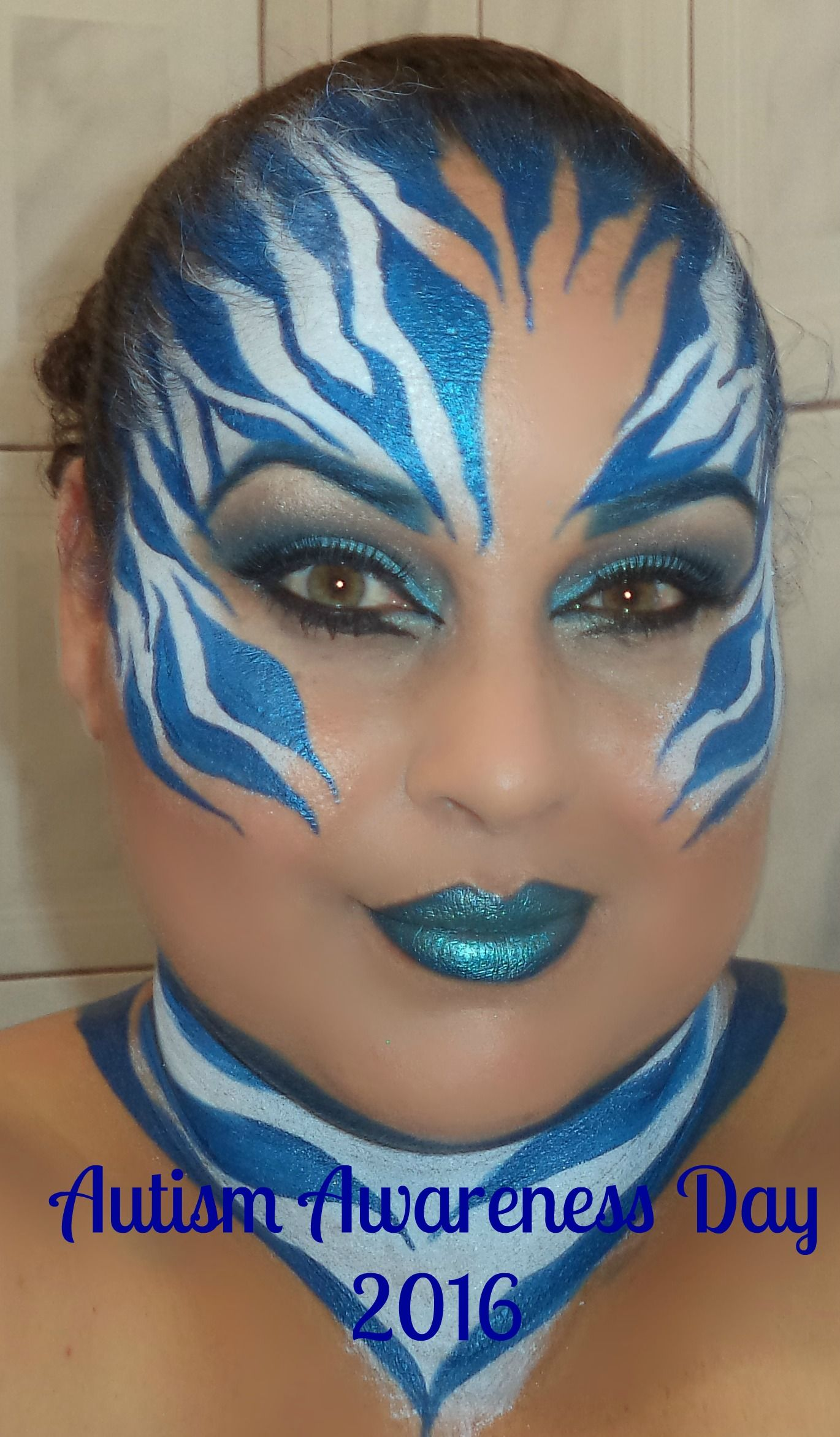 Carnival Makeup,Face Painting, Glitter Makeup, Dramatic Makeup, Zebra, Animals Print