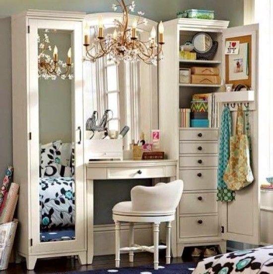 Princess Style Bedroom Makeup Vanity Table Home Decor Girls Bedroom Furniture Home