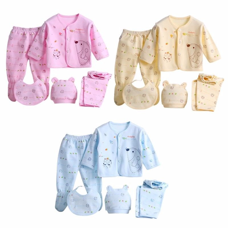 Cool 5pcs Set Newborn Baby 0 3m Clothing Set Brand Baby Boy Girl