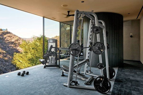 10 Home Gyms That Will Inspire You To Sweat Architectural Digest Home Gym Design At Home Gym Best Home Gym