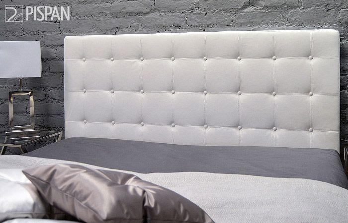 Avant sängynpääty, valkoinen keinonahka, mitat: L170 x K120 cm.