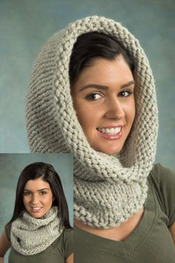 """free pattern - cowl - super bulky - 2 sts = 1 inch - 16"""" circular needle size US…"""