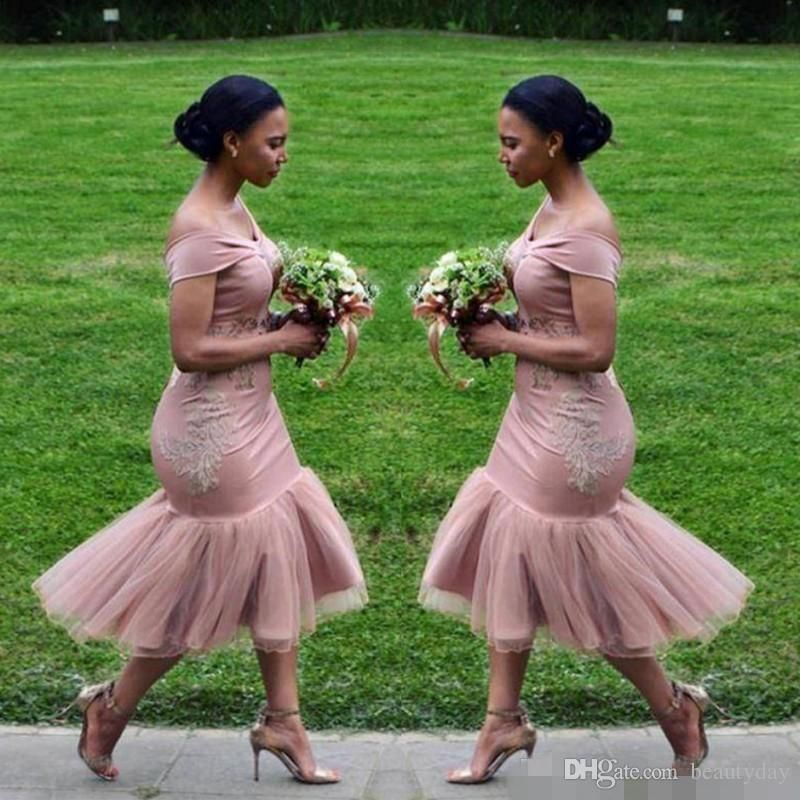 5 Gorgeous Trendy Wedding Themes For 2020: Bridesmaid Dresses 2020 Blush Pink Country Off Shoulder