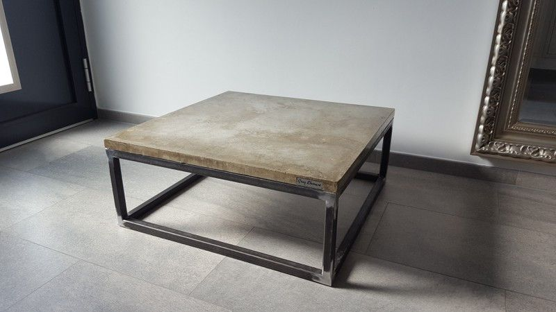 Couchtische couchtisch new york aus beton ein designerst ck von grey element bei dawanda - Betontisch wohnzimmer ...