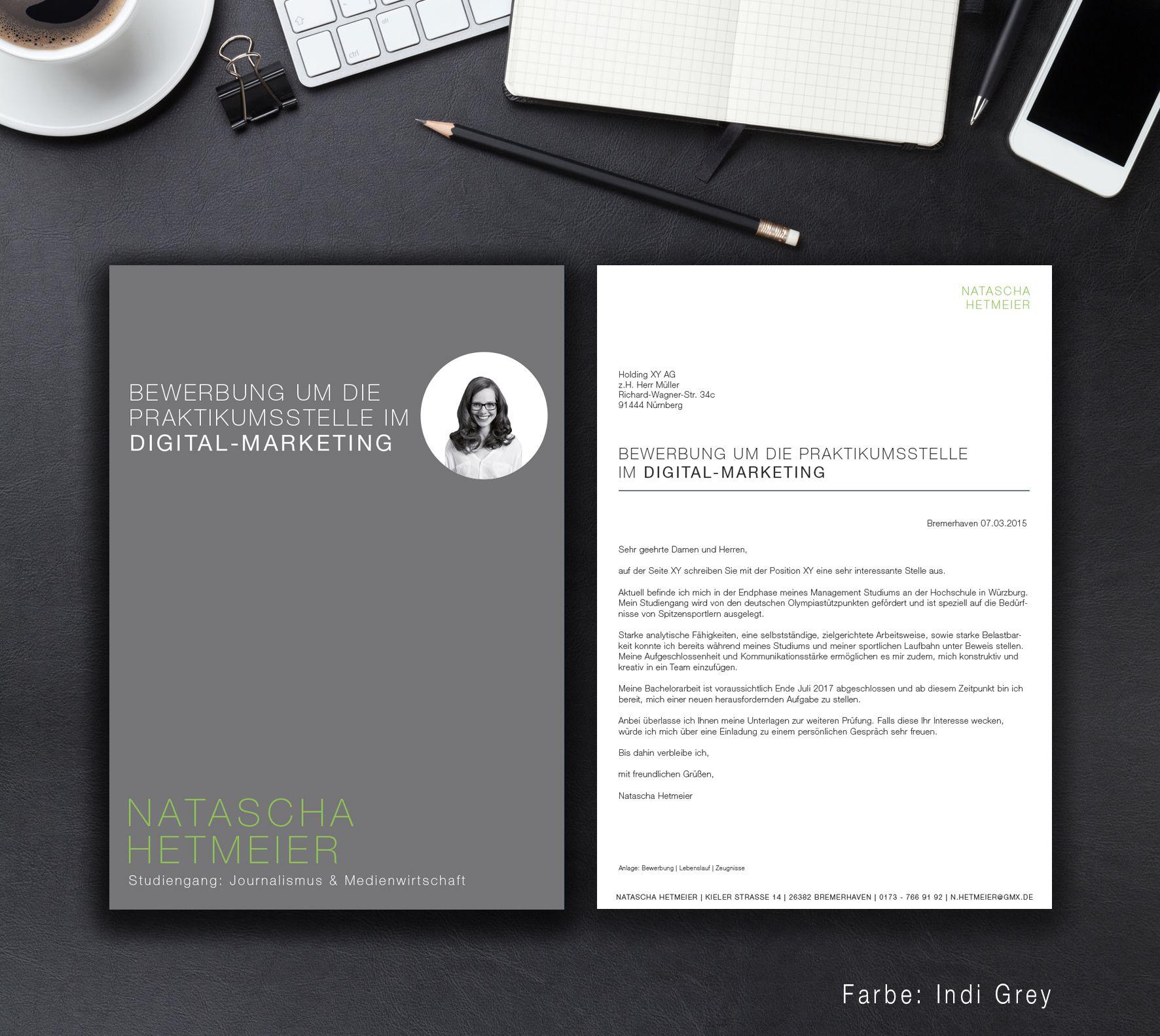 Unsere Bewerbungsvorlage Identity In Der Farbe Indi Grey Einzigartigkeit Demonstrieren Sie Mit Der Bewerbung Bewerbung Anschreiben Design Kreative Bewerbung