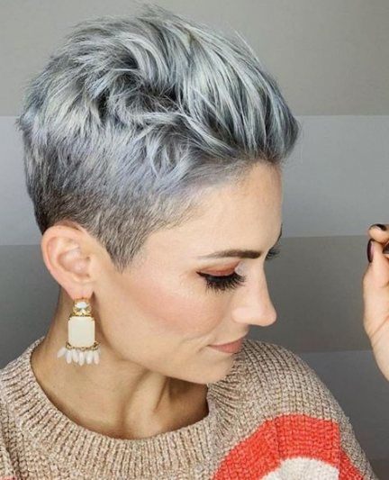 33 Ideas For Hair Color Grey Silver Short Gray Hairstyles White Hair Color Hair Color Grey Silver Thick Hair Styles