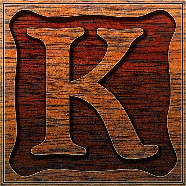 Presentation Alphabets Drop Caps Letter K Style 086 K