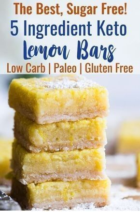 Sugar Free Keto Low Carb Lemon Bars | ALITA'S DIARY #sugarfreedesserts