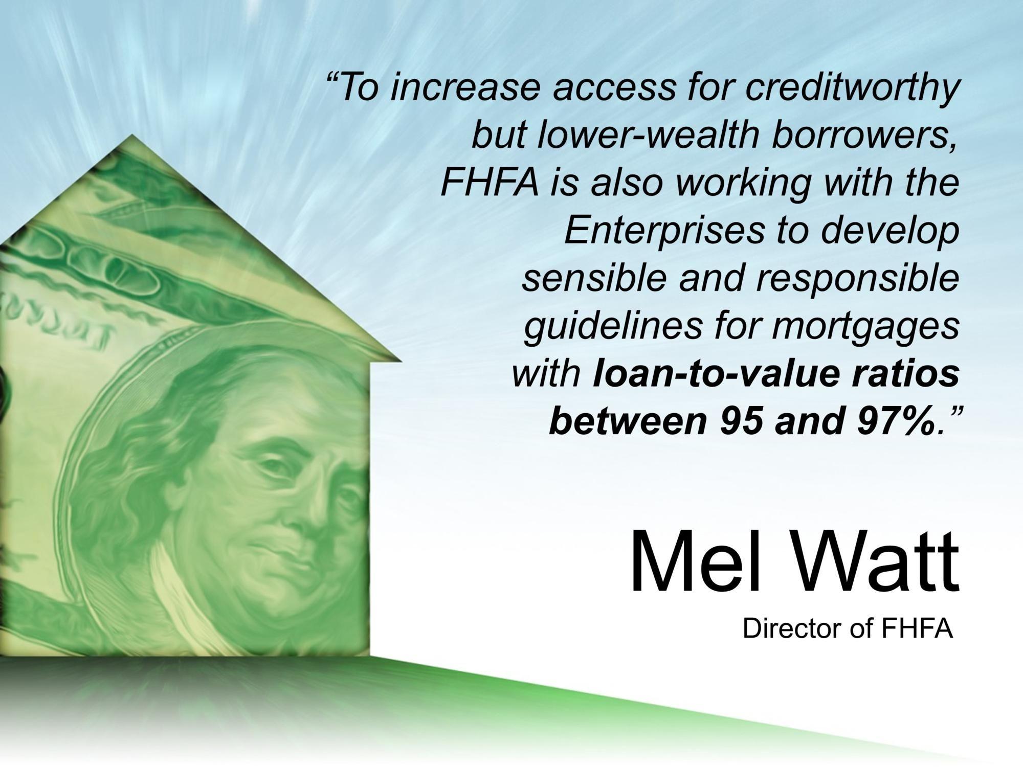FHFA Loan to value ratios The borrowers, Home mortgage