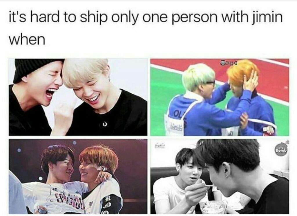You Can Ship Jimin With Any Member Kpoppp Bts Jimin Bts Memes