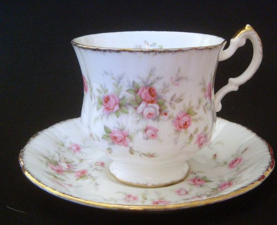 Paragon Victoriana Rose Tea Cup Duo Vintage Teacup by FinerChina