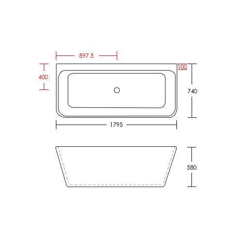 EVA-Freestanding-Bath-1800mm-Free-Standing-Bath-tub