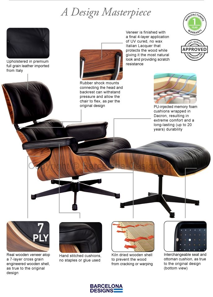 Eames Lounge Chair Ottoman In 2020 Eames Lounge Chair Replica