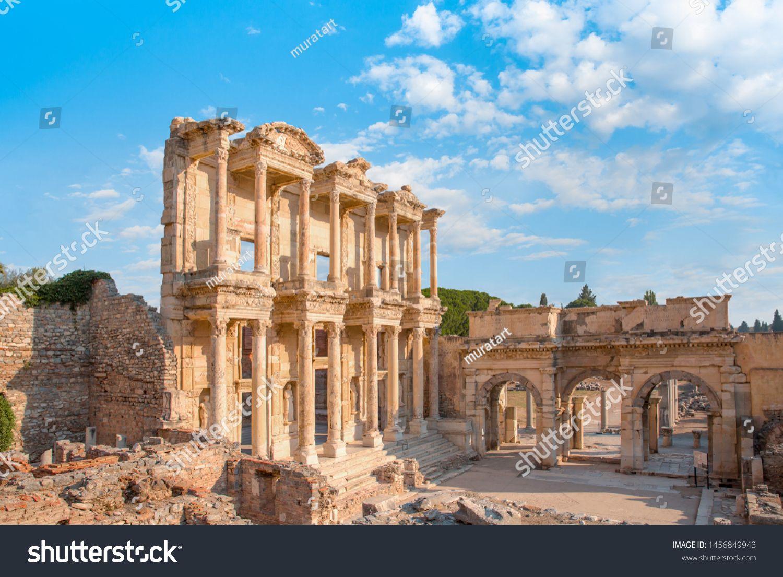 Celsus Library in Ephesus  Selcuk Turkey