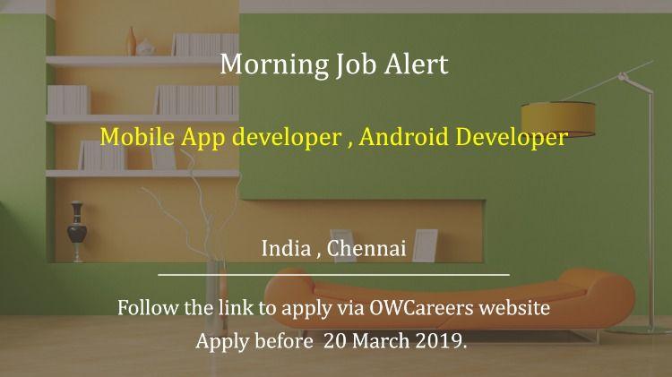 Mobile App developer , Android Developer Mobile app