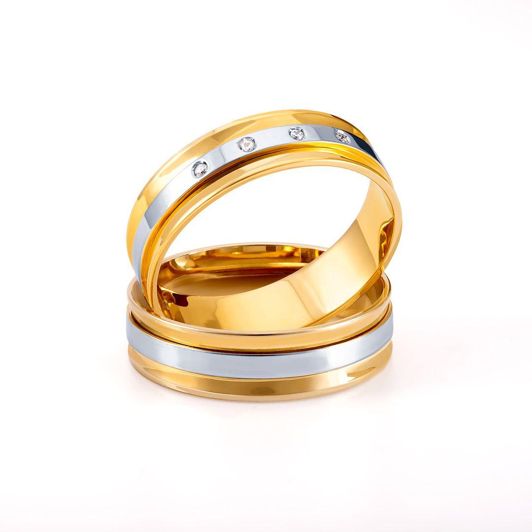 Joiasvip Joias Ouro18k Ouro Ourobranco Diamante Alianca