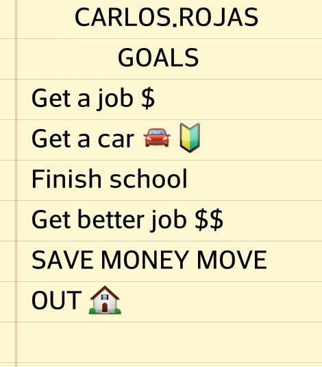 Things to do for a new year n change life around n be happy n be somebody in life never going to give up on what i want  (k)