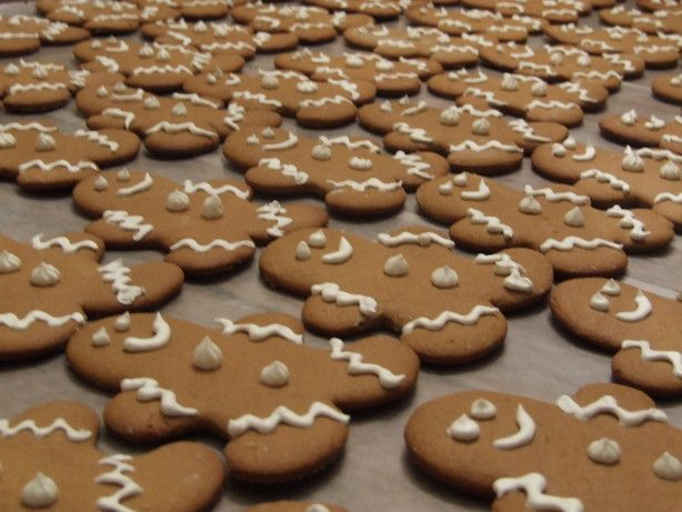 Best Gingerbread Cookies recipe.    Hint!  Roll the chilled dough between waxed paper. Take off the top paper and cut out your shapes without moving or handling the dough at all. Put the paper and dough in the freezer. Take out after 10 mins - the shapes are easy to remove without breaking. Put onto a baking sheet straight into the oven!