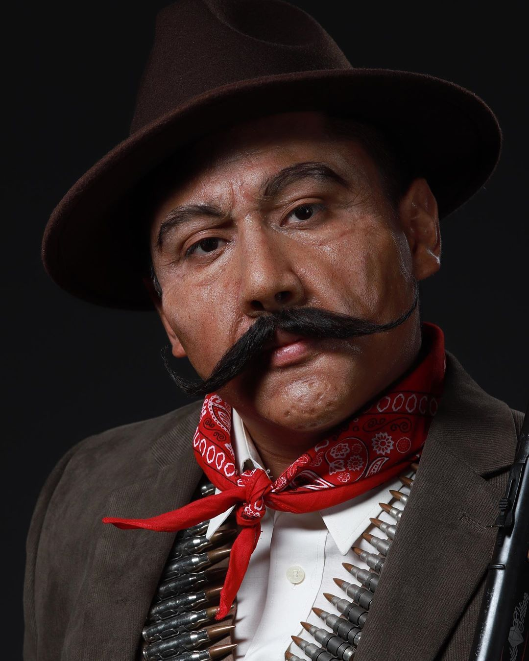 Meet General Pancho Villa! Old age makeup sculpted