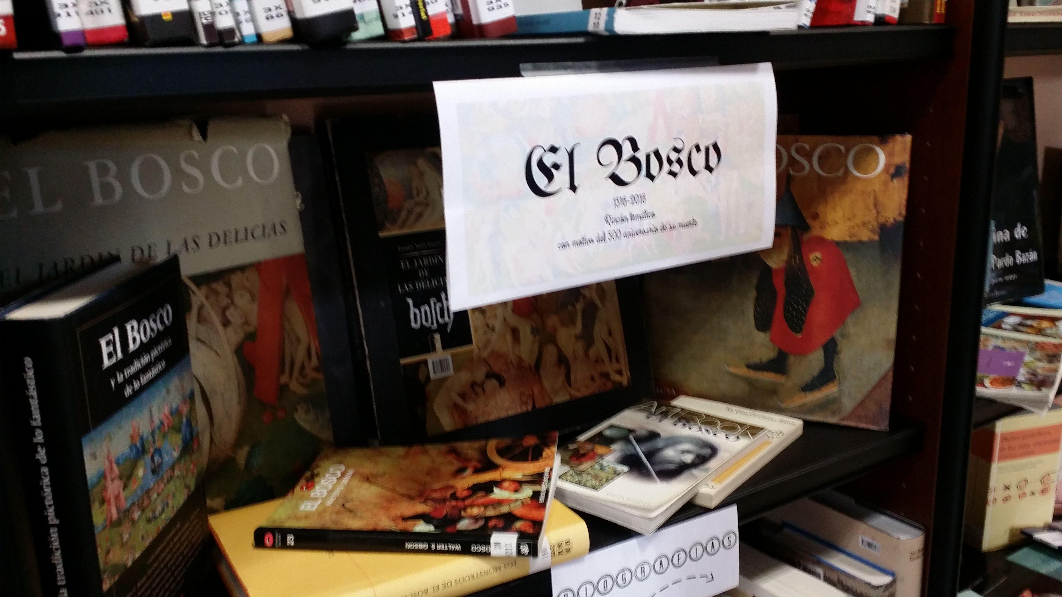 Na zona de préstamo da nosa biblioteca tedes un novo recanto temático, adicado ao Bosco, con motivo do seu 500 cabodano.