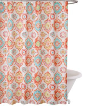 Fiesta Ava Fabric Shower Curtain Fabric Shower Curtains Shower