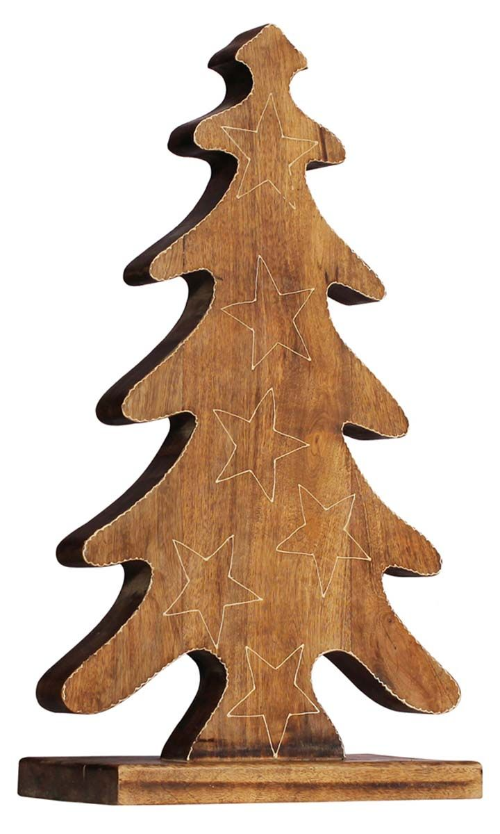 Bulk Wholesale Hand Carved Mango Wood Christmas Tree Ch