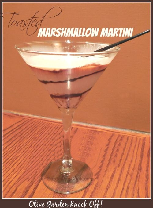 Marshmallow Garden Recipe Martini Olive