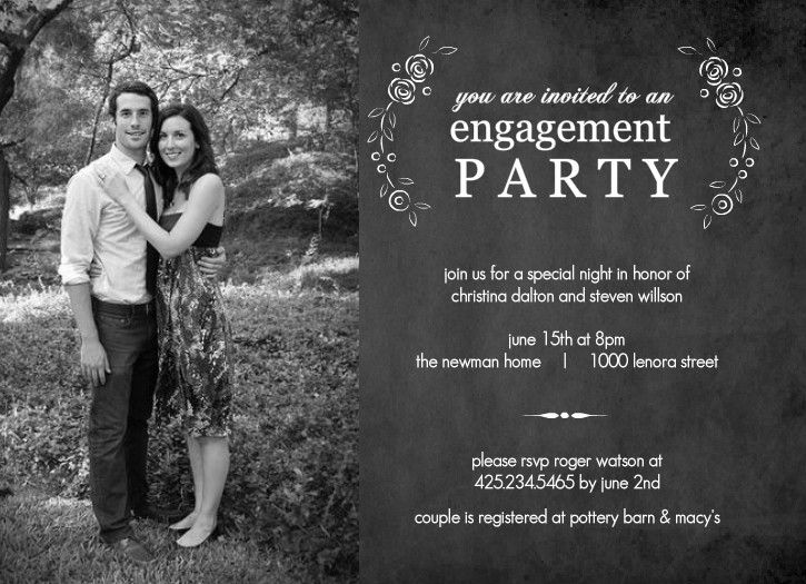 free engagement party invitation templates printable | engagement, Birthday invitations