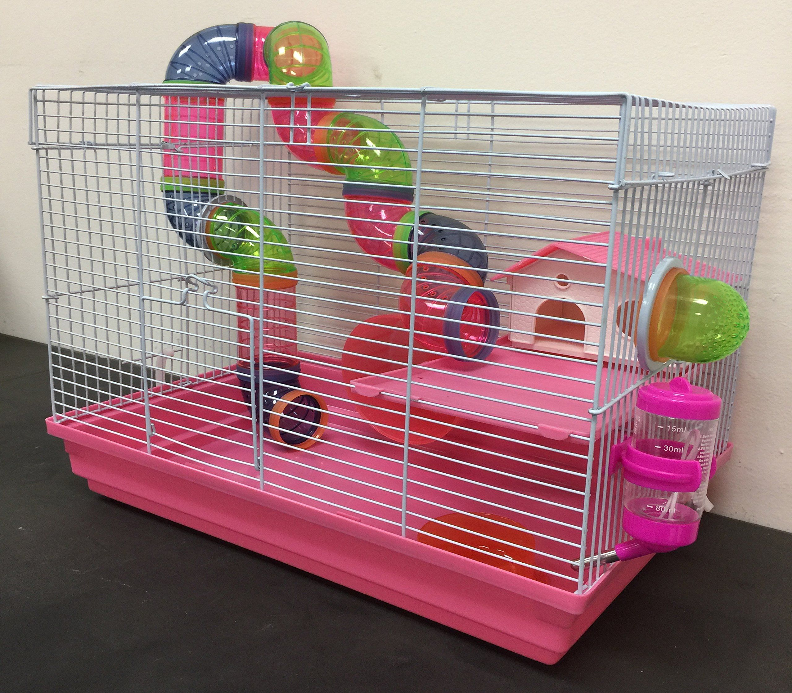 Pink 2 Floor Syrian Hamster Habitat Rodent Gerbil Mouse Mice Rats Animal Cage Need To Know More Click The Pict Small Animal Cage Hamster Habitat Small Pets