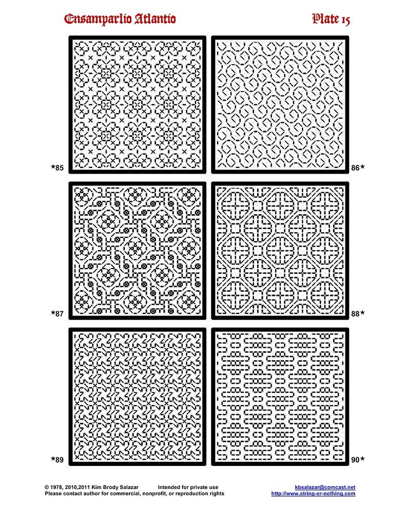 abonny blackwork pinterest annadrianna ensamplario atlantio being a collection of filling patterns suitable for blackwork embroidery bankloansurffo Gallery