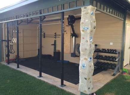 home gym corner garage 34 ideas home  home gym decor