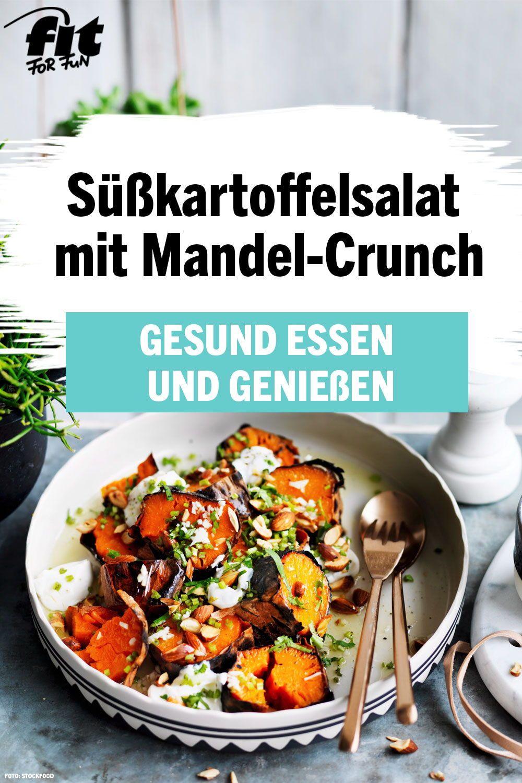 Susskartoffelsalat Mit Mandel Crunch Rezept Susskartoffel Rezepte Rezepte Susskartoffel Salat